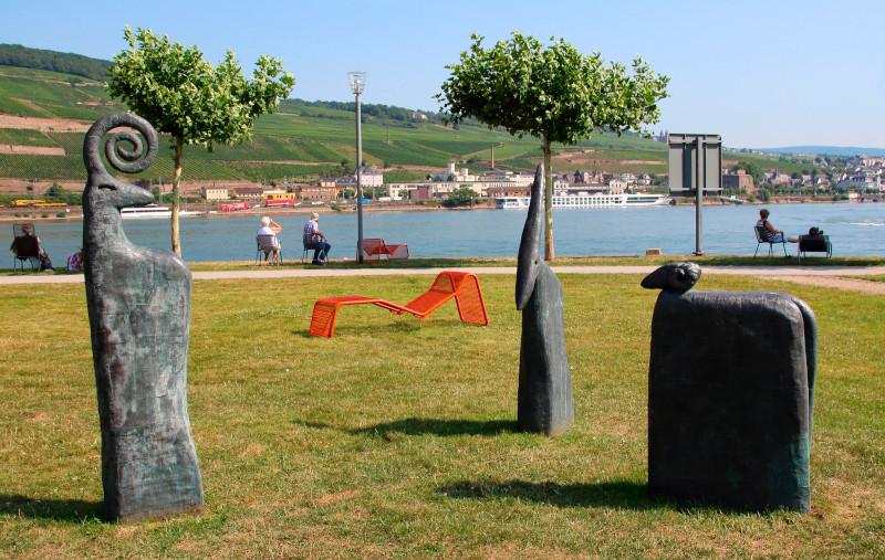 Hafenpark Bingen am Rhein., Foto: Marion Halft, Wikimedia, Lizenz: CC BY-SA 4.0.